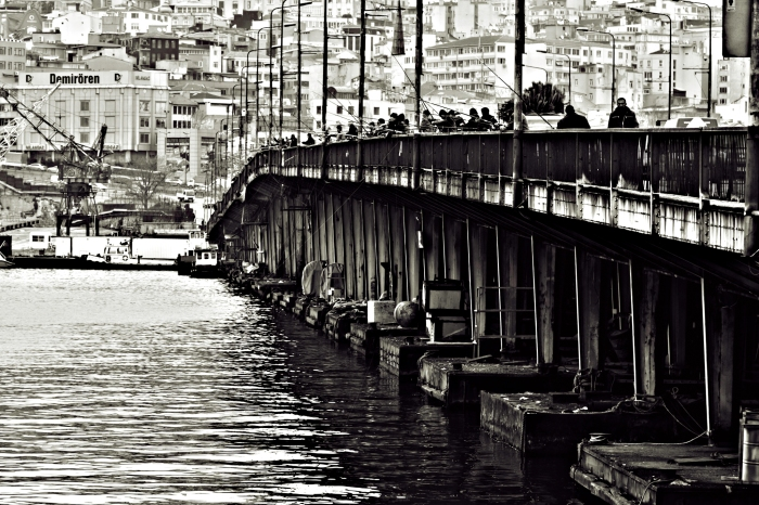 Galata Bridge Fishermen