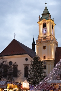 Christmas at the Old Town Square: Bratislava, SLovakia