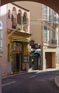 The side streets of Monaco