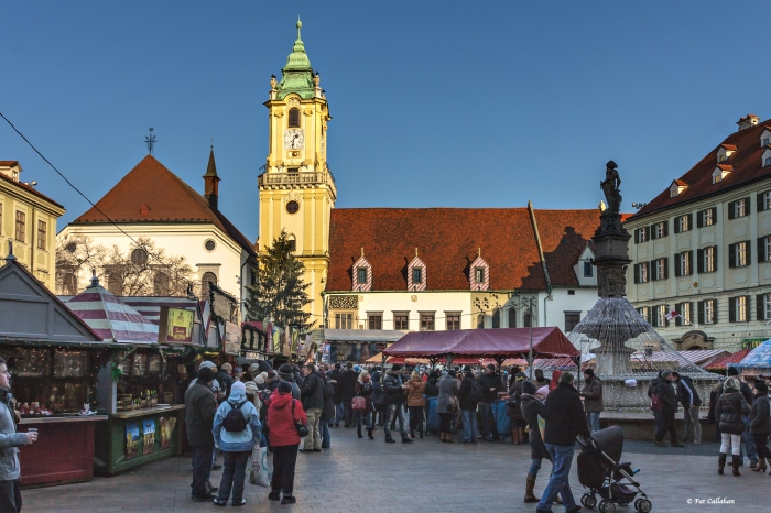 The Christmas Market in the Old Town Square - Bratislava