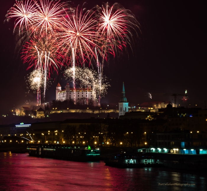 Fireworks over the Castle: Bratislava, Slovakia