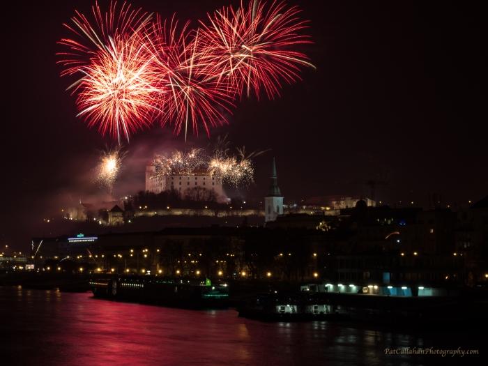 Firewworks from Stary most - Bratislava, Slovakia