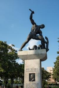 Tribute to Wallenberg in Szent Istvan Park