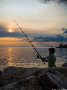 The setting sun: Piran, Slovenia