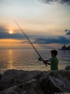 The setting sun: Piran, Slovenia