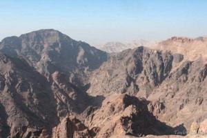 View near the monastery Petra Jordan