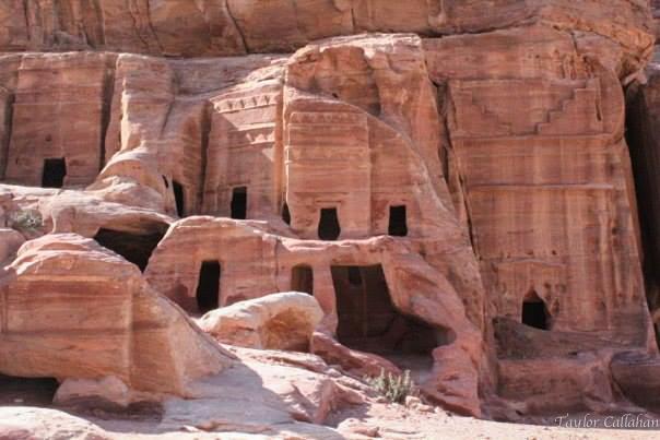 Caves above Petra Jordan