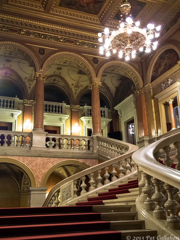 The stairs inside the Budapest Opera House