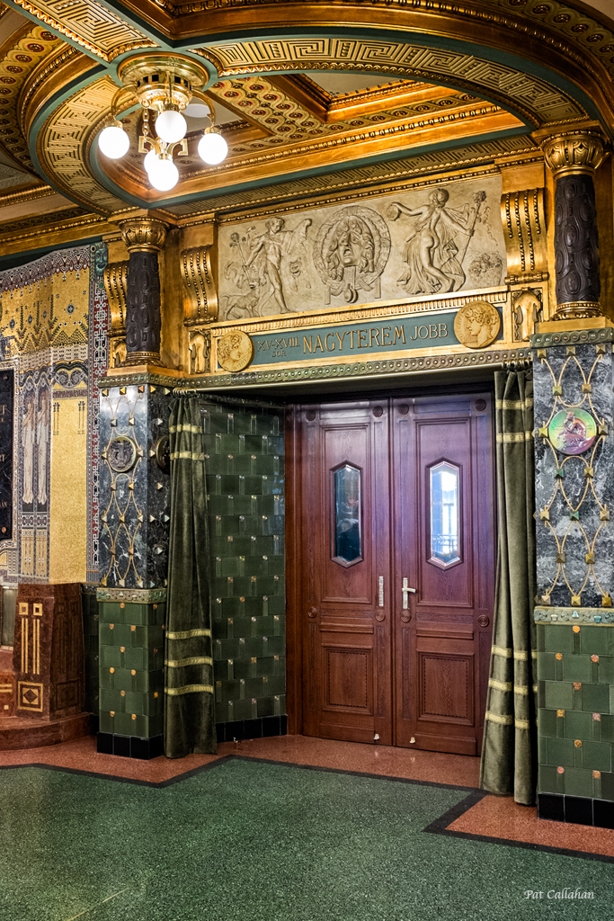 The inside doors to the Franz Liszt Academy Budapest Hungary