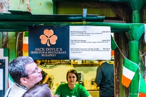 St. Patrick's Day Menu Instant Ruin Pub Budapest Hungary