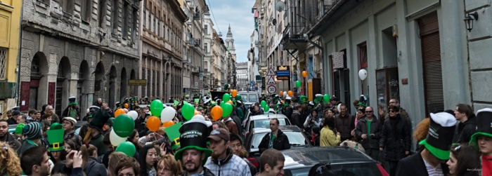 St. Patrick's Day parade in Budapest Hungary