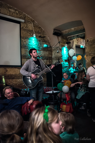 Irish Singer St. Patrick's Day at a ruin pub in Budapest Hungary