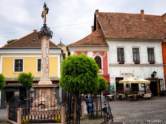 The main square and plague monument, Szentendre Hungary