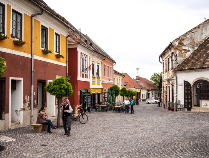 The beautiful colorful streets of Szentendre hungary