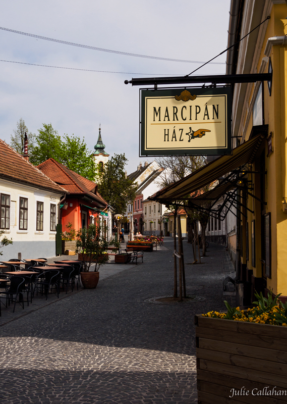 Szentendre Hungary pedestrian area before the crowds