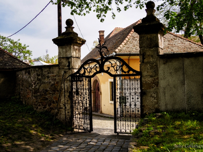 Gates to the courtyard of the Serbian Orthodox Cathedral in Szentendre Hungary