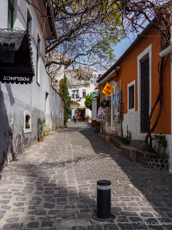a road with no crowds in Szentendre, Hungary