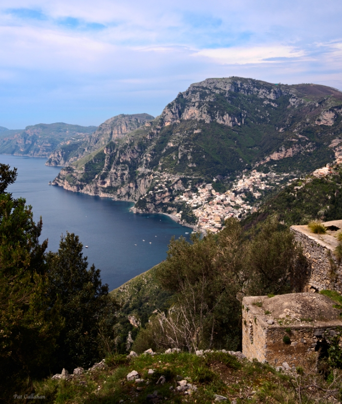 view from the path of the Gods towards Positanoe g