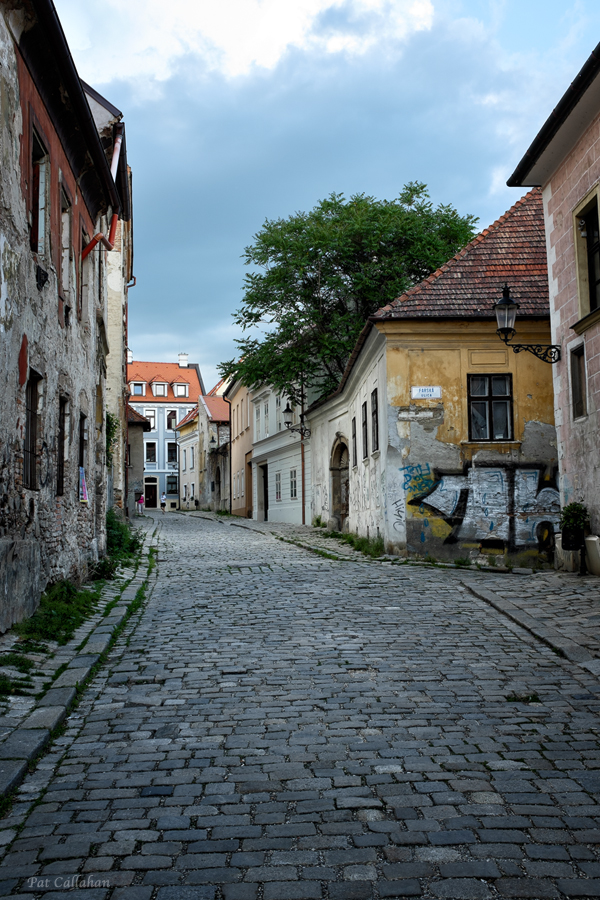 Kapitulska Street looking towards the Albrecht House
