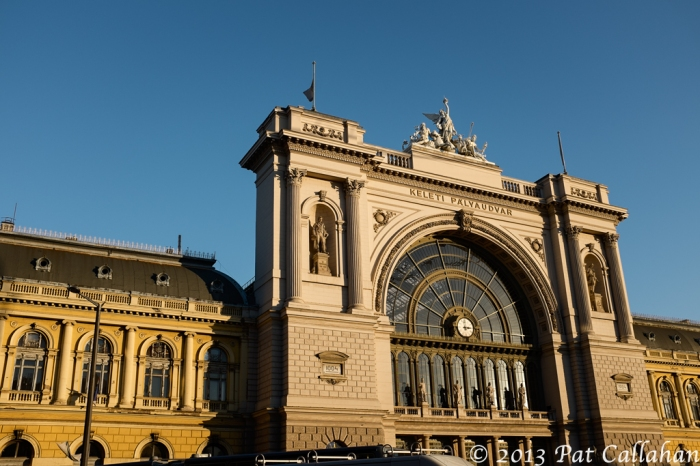 exterior view of the Keleti train station in Budapest Hungaryb