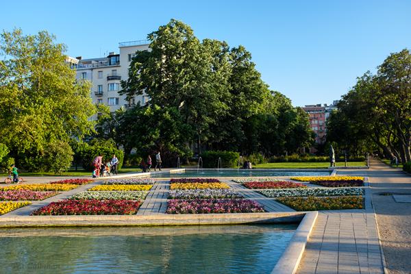 Apartments surrounding Szent Istvan Park Budapest Hungary