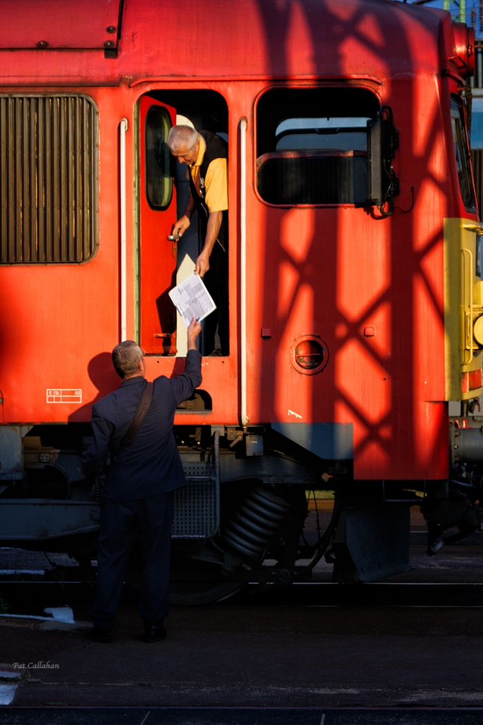 train conductors in rural Hungary