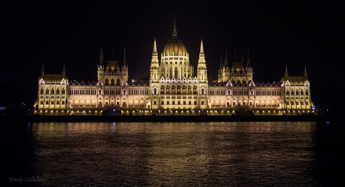 Parliament as seen from across the Danube
