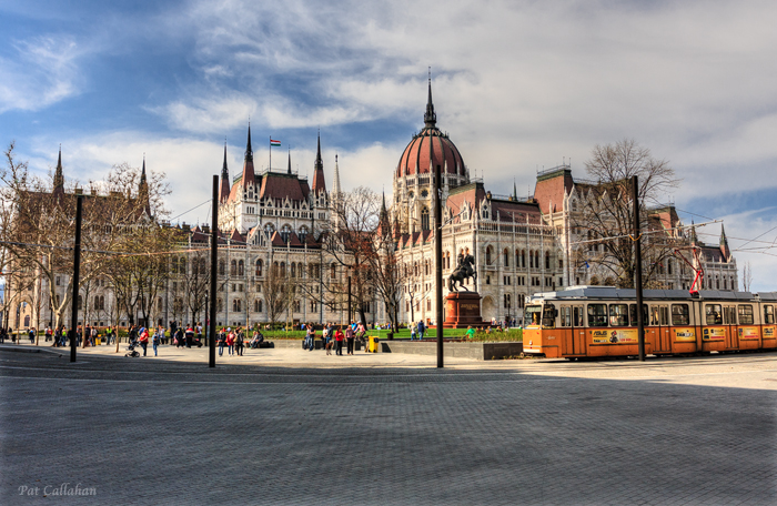 The Budapest, Hungary parliament building