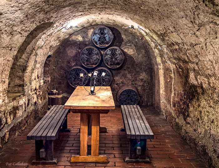 Small wine cellar in the base of the Tokaj Museum Tokaj Hungaryhe ba
