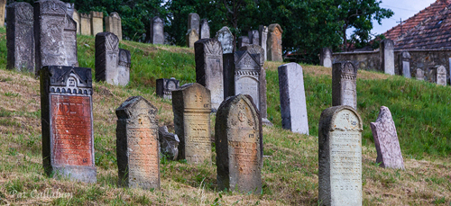 Tombstones on the hillside in Mad Hungary