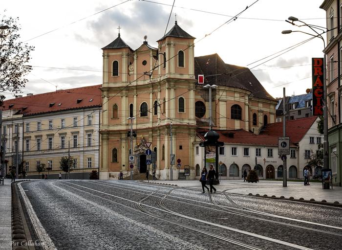 outside the old city gate Bratislava Slovakia