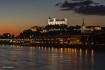 Bratislava slovakia castle over the danube by