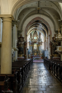 Inside the Franciscan Church in Old Town Bratislava