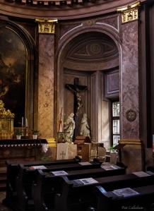 Inside the palatial palace church in Bratislava Slovakia