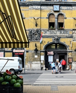 hunyadi ter market in Budapest Hungary