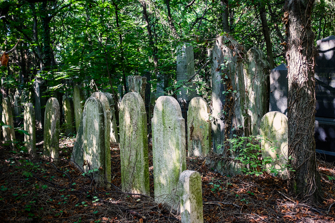 worn headstones Jewish Cemetery Budapest