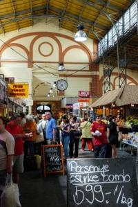 inside of hunyadi market budapest hungary