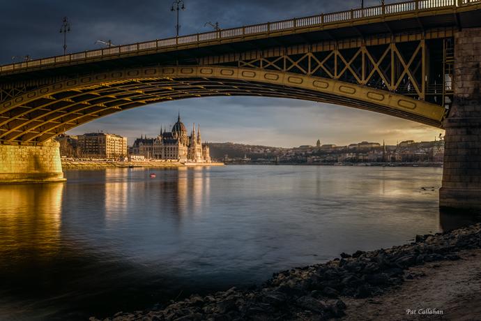 Parliament Budapest from under Margit Bridge