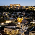 picture of the acropolis for the A for Athens rooftop bar