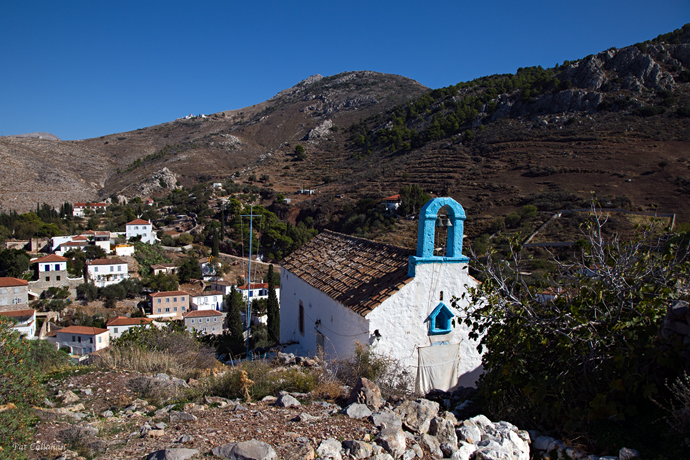 church on way to elias monastery hydra