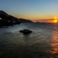 sunset on hydra island greece