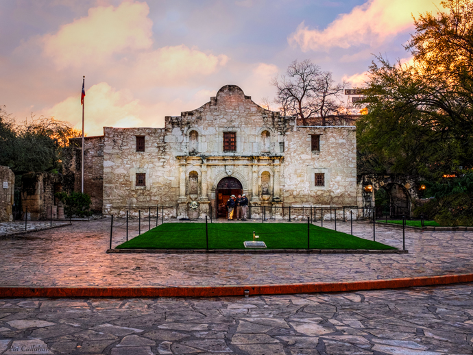 The Alamo at Dawn San Antonio Texas