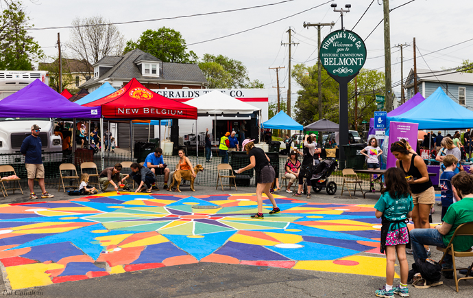 Painting the streets at the Tom Tom Festival