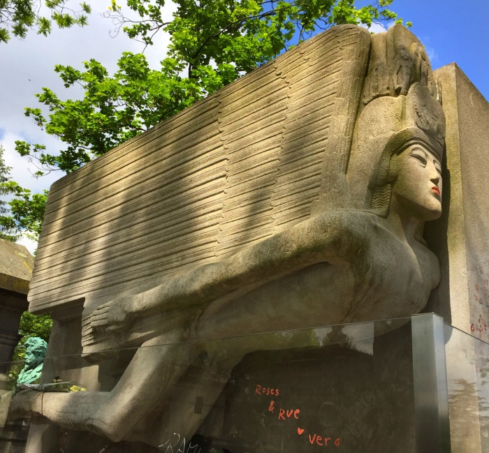 Not sure who added the lipstick to Oscar Wilde's tomb