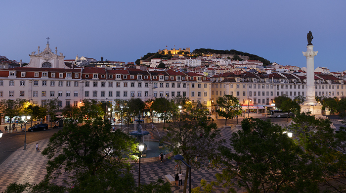Lisbon square at the Blue Hour