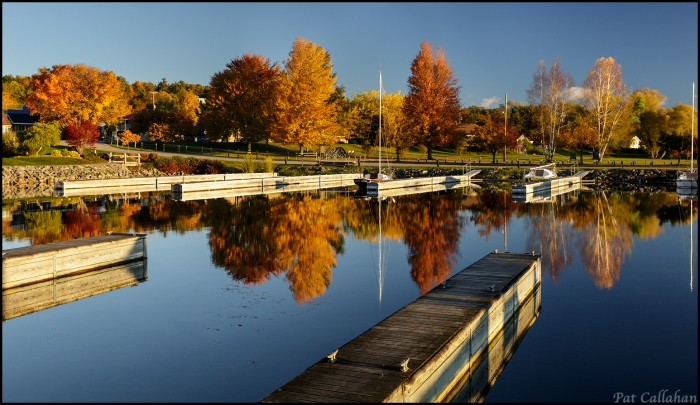 Reflection in the Suttons Bay harbor
