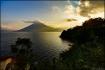 Late day sun over Lake Atitlan
