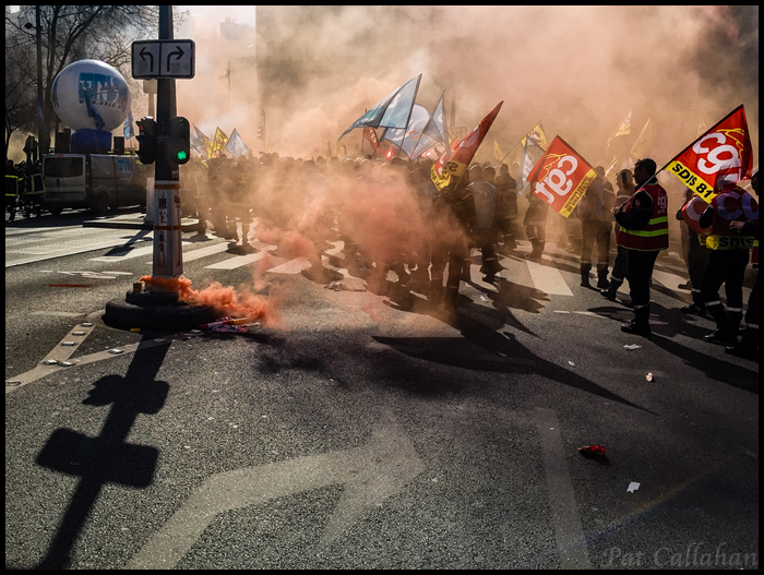 Paris-Protest at Republique