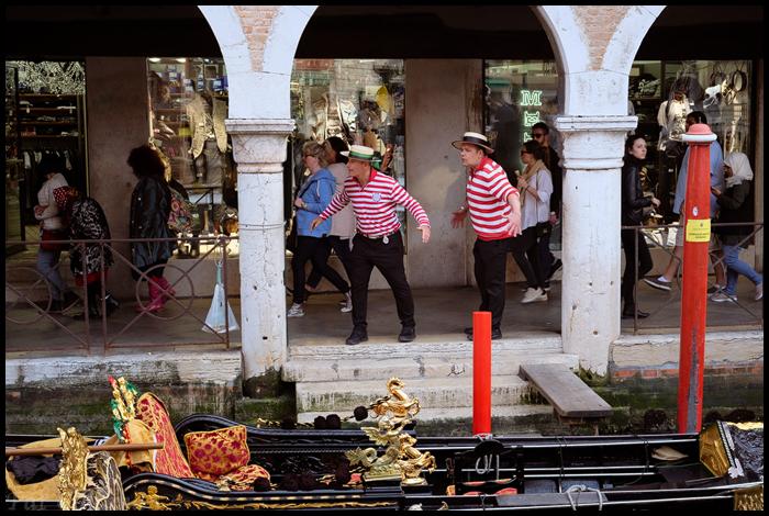 Venice-Gondoliers